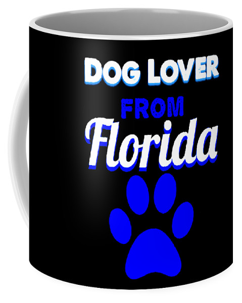 Beagle Coffee Mug featuring the digital art Dog Lover From Florida by Kaylin Watchorn
