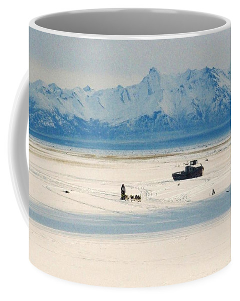 North Coffee Mug featuring the photograph Dog Musher At Cook Inlet - Alaska by Juergen Weiss