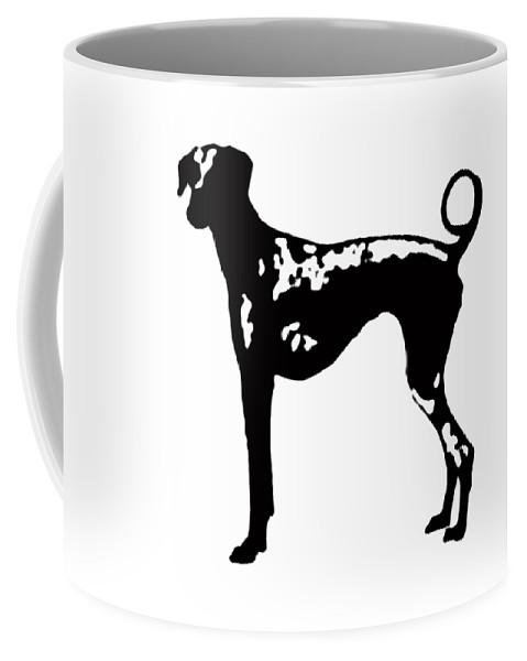 Dog Coffee Mug featuring the digital art Dog Tee by Edward Fielding