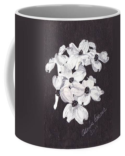 Dogwood Coffee Mug featuring the painting Dogwood Blooms by Alexis Grone