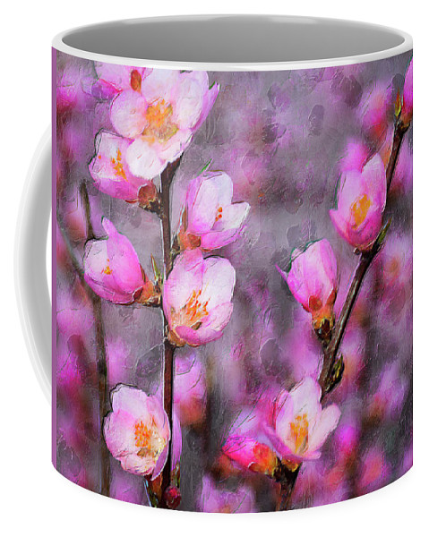Floral Coffee Mug featuring the digital art Dogwood Blossoms by Fernwood Grove