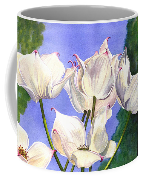 Flower Coffee Mug featuring the painting Dogwood by Catherine G McElroy