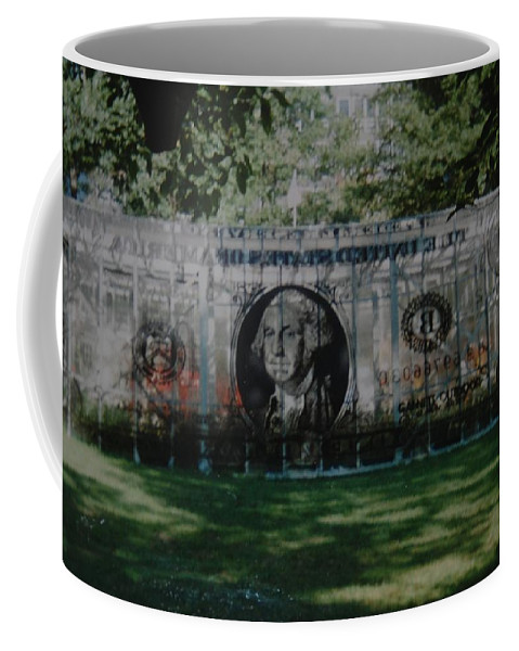 Park Coffee Mug featuring the photograph Dollar Bill by Rob Hans