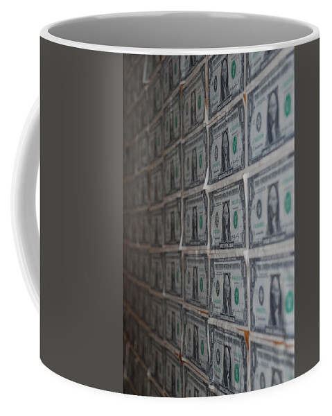 George Washington Coffee Mug featuring the photograph Dollars by Rob Hans