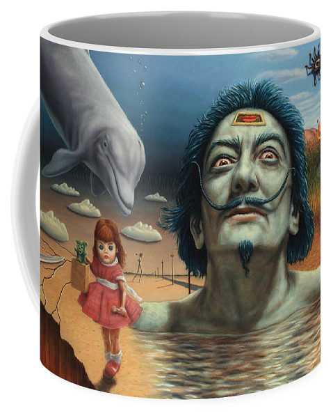 Dali Coffee Mug featuring the painting Dolly In Dali-land by James W Johnson