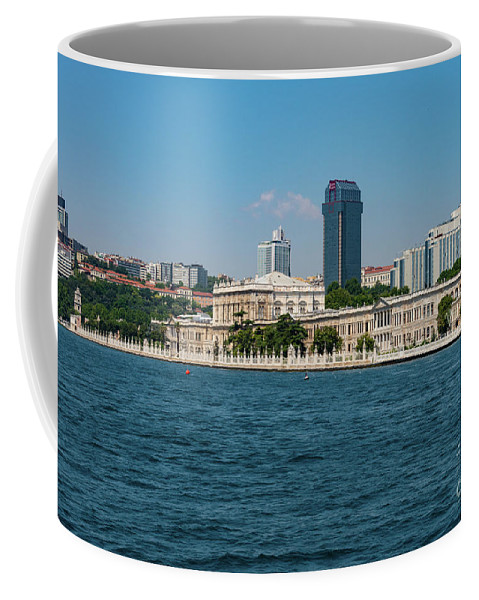Istanbul Coffee Mug featuring the photograph Dolmabahce Palace On The Bosphorus by Bob Phillips