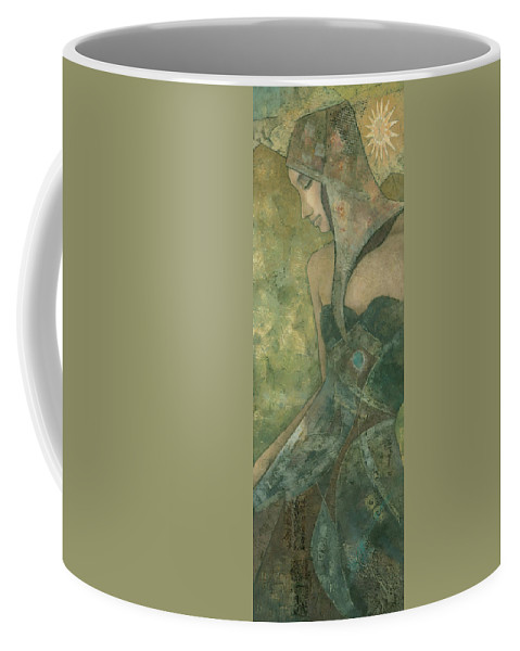 Original Coffee Mug featuring the painting Dolores by Steve Mitchell