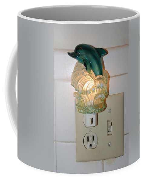 Dolphins Coffee Mug featuring the photograph Dolphin Night Light by Rob Hans