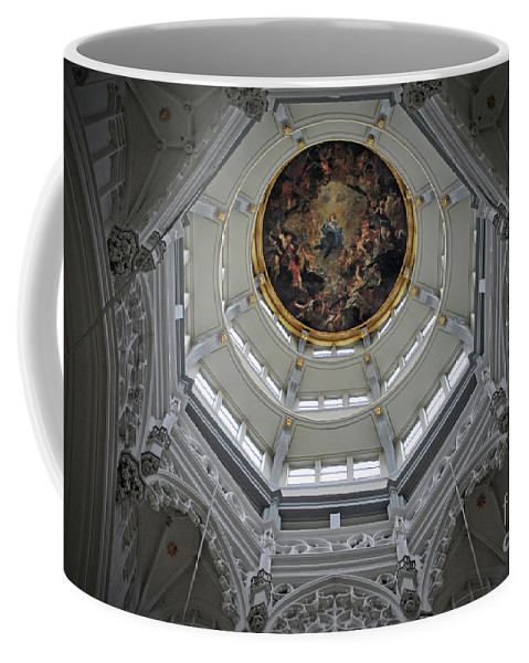 Christian Coffee Mug featuring the photograph Dome Of Cathedral Of Our Lady Antwerp by Jost Houk