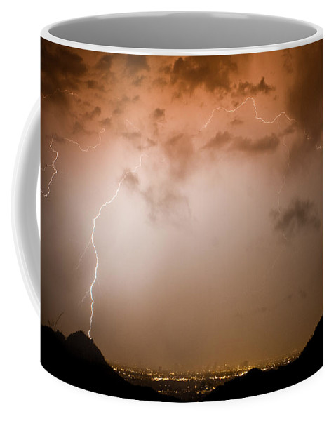 Lightning Coffee Mug featuring the photograph Dome Of Lightning by James BO Insogna