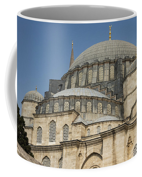 Fatih Coffee Mug featuring the photograph Domes Of Suleymaniye Mosque by Bob Phillips
