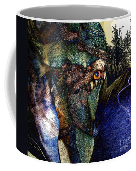 Dog Coffee Mug featuring the photograph Domesticated by Ron Bissett