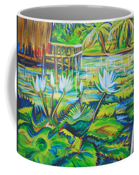 Tropics Coffee Mug featuring the painting Dominicana by Anna Duyunova