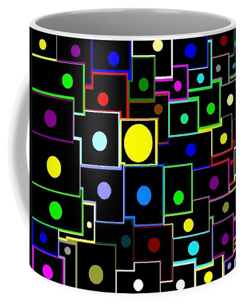 Abstract Coffee Mug featuring the digital art Domino Effect by Will Borden