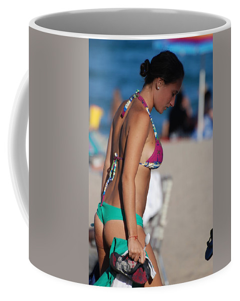 Girl Coffee Mug featuring the photograph Domino by Rob Hans