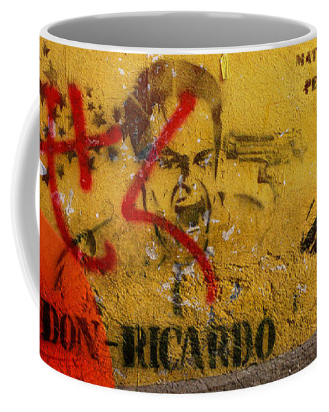 Grafitti Coffee Mug featuring the photograph Don-ricardo by Skip Hunt
