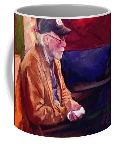 Portrait Coffee Mug featuring the digital art Don by Scott Waters