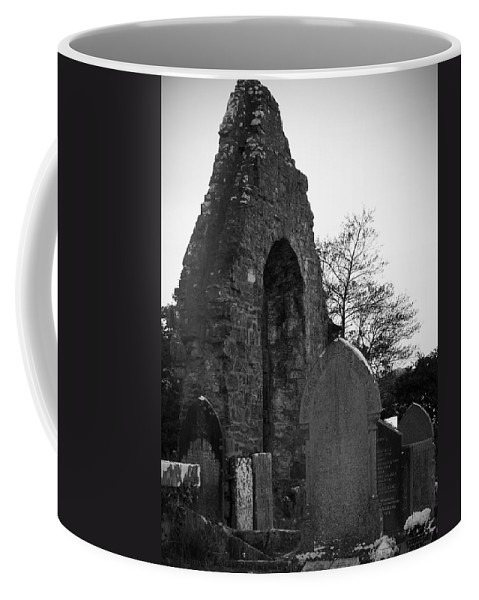 Irish Coffee Mug featuring the photograph Donegal Abbey Ruins Donegal Ireland by Teresa Mucha