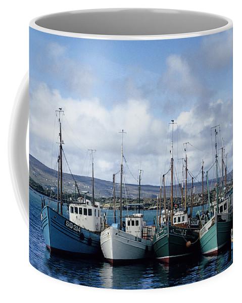 Fishing Boats Ireland Coffee Mug featuring the photograph Donegal Fishing Port by John Farley