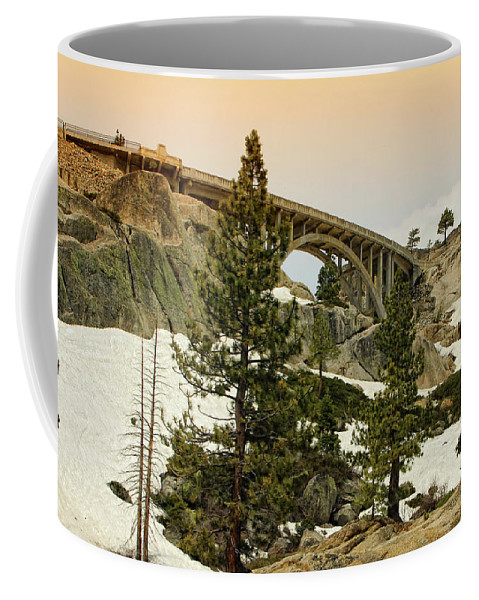 Donner California Coffee Mug featuring the photograph Donner by Donna Blackhall