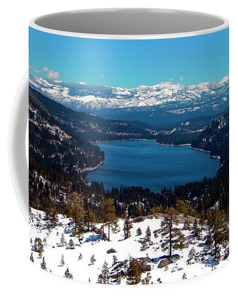 Frank Wilson Coffee Mug featuring the photograph Donner Lake Sierra Nevadas by Frank Wilson