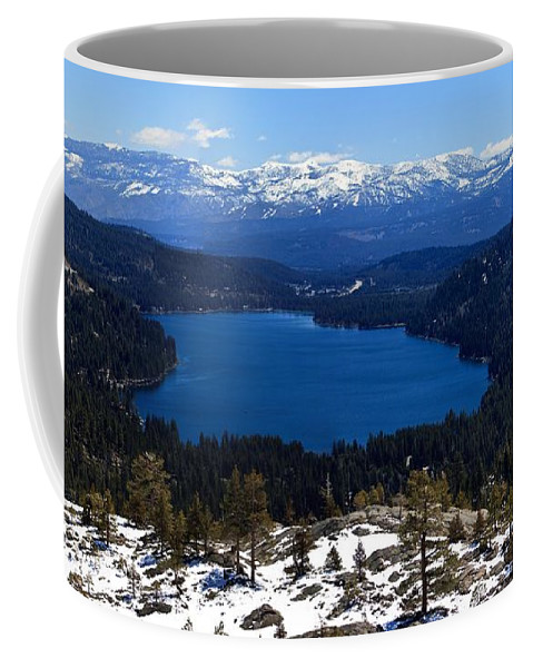 Donner Coffee Mug featuring the photograph Donner Lake by Thomas Marchessault
