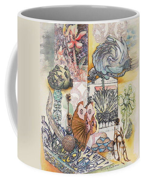 Abstract Coffee Mug featuring the painting Don't artichoke by Valerie Meotti