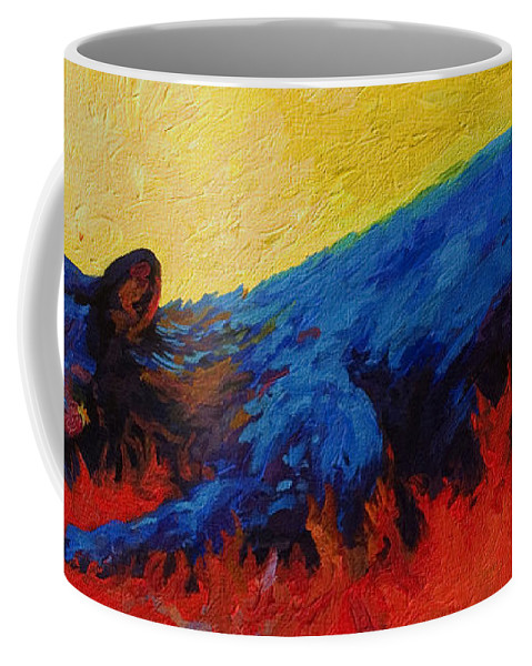 Western Coffee Mug featuring the painting Dont Bug Me by Marion Rose