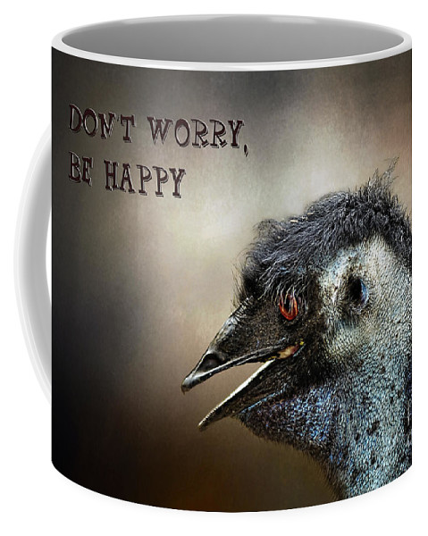 Photography Coffee Mug featuring the photograph Don't Worry Be Happy by Kaye Menner