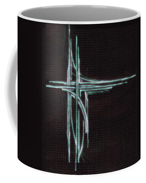 Abstract Coffee Mug featuring the digital art Doodle 5600 Explored by Don Quackenbush
