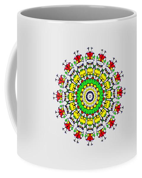 Abstract Coffee Mug featuring the digital art Doodle Mandala by Marv Vandehey