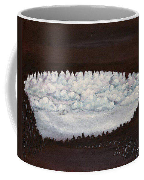 Clouds Coffee Mug featuring the painting Doomsday by Mike Parsons