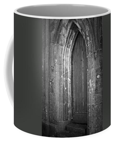 Irish Coffee Mug featuring the photograph Door At Protestant Church Macroom Ireland by Teresa Mucha