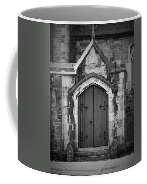 Irish Coffee Mug featuring the photograph Door At St. Johns In Tralee Ireland by Teresa Mucha