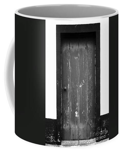 Closed Coffee Mug featuring the photograph Door by Gaspar Avila