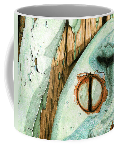 Old Coffee Mug featuring the mixed media Door Handle by Rob De Vries