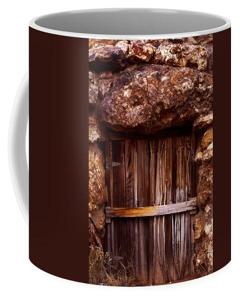 Door Coffee Mug featuring the photograph Door by Karen Ulvestad