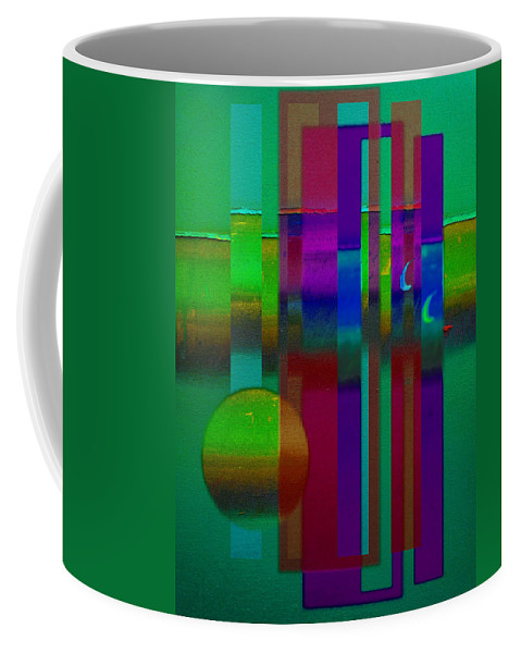 Landscape Coffee Mug featuring the painting Doors In Green by Charles Stuart