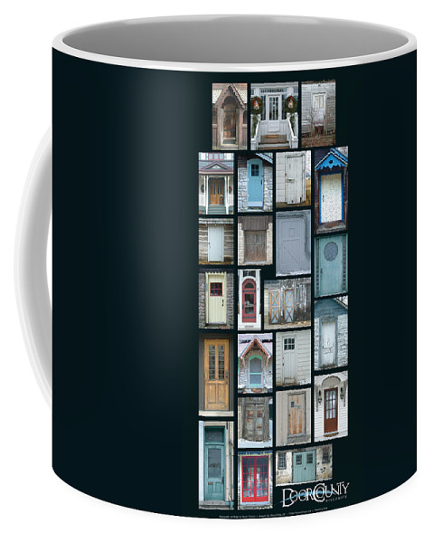 Doors Coffee Mug featuring the photograph Doors Of Door County Poster by Tim Nyberg