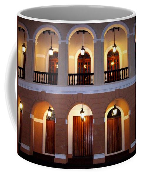 Doors Coffee Mug featuring the photograph Doors Of San Juan Square by Deborah Crew-Johnson