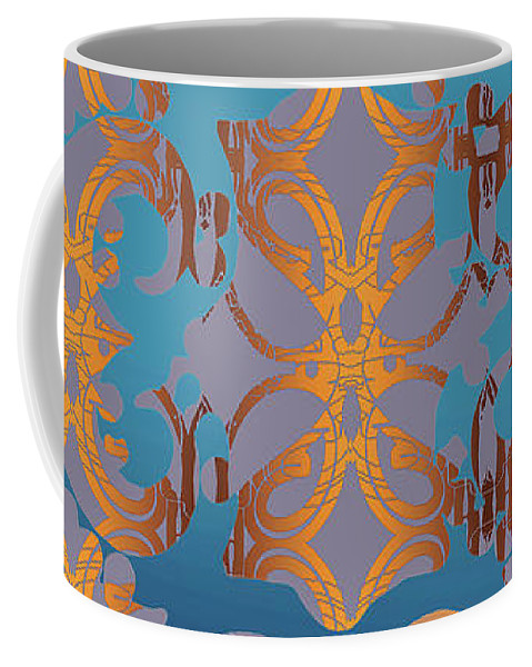 Blue And Gold Coffee Mug featuring the digital art Doro Dallas by Ceil Diskin