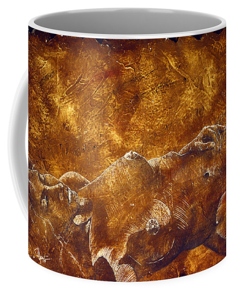 Nude Coffee Mug featuring the painting Dorothy Iv by Richard Hoedl