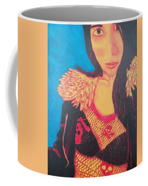 Woman Coffee Mug featuring the painting Dorothy by Matthew McClain