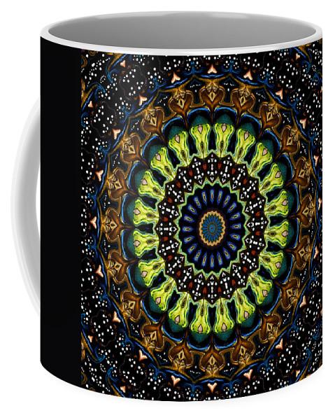 Digital Coffee Mug featuring the digital art Dotted Wishes No. 3 Kaleidoscope by Joy McKenzie
