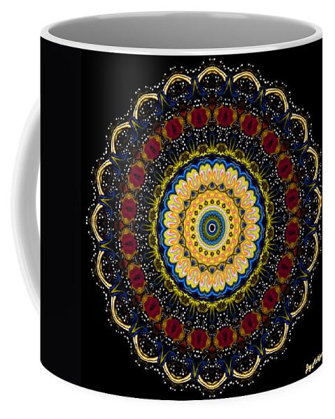 Digital Coffee Mug featuring the digital art Dotted Wishes No. 6 Mandala by Joy McKenzie