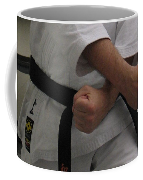 Karate Coffee Mug featuring the photograph Double Fisted by Kelly Mezzapelle