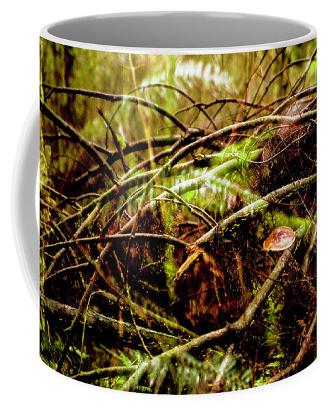 Abstract Coffee Mug featuring the photograph Double Rainforest by Jeff Kornelis