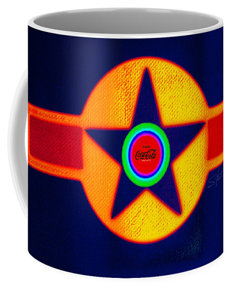 Usaaf Coffee Mug featuring the painting Double Red by Charles Stuart