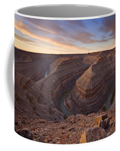 Goosenecks State Park Coffee Mug featuring the photograph Doubleback by Mike Dawson