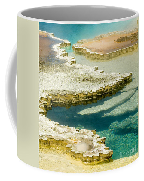 Yellowstone National Park Coffee Mug featuring the photograph Doublet Pool In Yellowstone by Sandra Bronstein